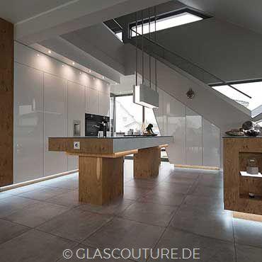 Glasküche White Pearl 01