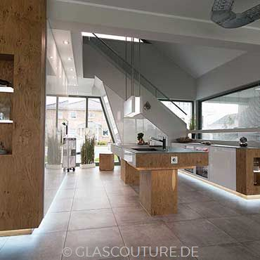 Glasküche White Pearl 04