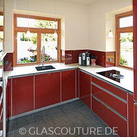 Beiepiel Glasküche Red Shimmer