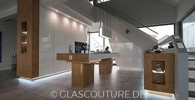 Glasküche WHITE PEARL