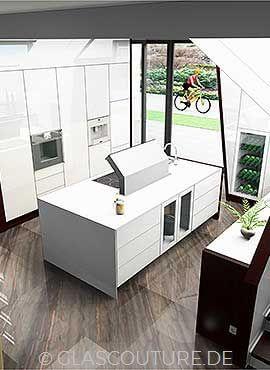 Glasküchen-Planung